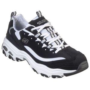 Skechers D Lites Herren Low Sneaker Schwarz Schuhe, Größe:43