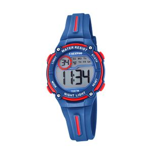 Calypso Kunststoff PUR Kinder Uhr K6068/4 Armbanduhr dunkelblau Digital D2UK6068/4