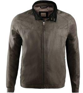 bugatti Blouson ungefütterte Herren Frühlings-Jacke in untersetzten Größen Braun, Größe:50