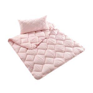 Bett-Set Tropicana Kopfkissen + Bettdecke 80x80 + 135x200 cm  | in 2  tropischen Farben | Microfaser Tropical-Pink