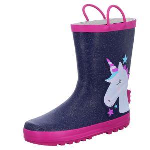 Sneakers Mädchen-Gummistiefel Einhorn Blau-Pink, Farbe:blau, EU Größe:28