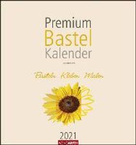 Premium Bastelkalender 2021 Champagner 34 x 32 cm