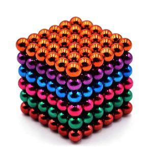 5mm 216 STueCKE 5 Farben Magnetkugeln Magnete Buero Spielzeug Magnetische Skulptur Backyballs Geschenk fuer Intellektuelle Entwicklung Stressabbau