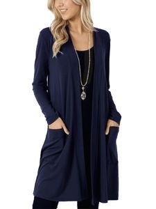 Strickjacke für Damen in Übergröße Strickjacke für Damen mit langen Ärmeln Top,Farbe: Navy blau,Größe:3XL