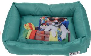 Pets Collection hundekorb 61 x 45 x 12 cm Polyester-Aqua