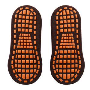 Anti Rutsch Socken Stoppersocken Noppensocken Rutschfeste Bodensocken Noppen ABS Socken für Schuhgröße 35-43 Farbe Kaffee