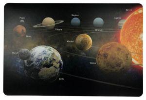 Schreibtischunterlage Sonnensystem Planeten 40 x 60 cm abwischbar