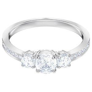 Swarovski 5414972 Ring Damen Attract Trilogy Round Weiss Silber-Ton Gr. 55