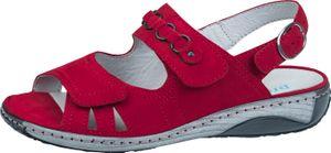 Waldläufer Garda Damen Sandale in Rot, Größe 6.5