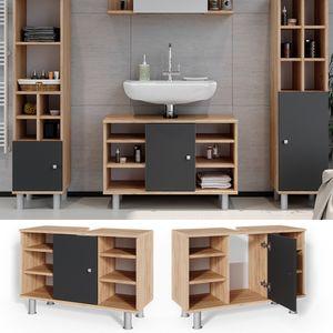 Vicco Waschtischunterschrank Fynn Badschrank Waschbeckenunterschrank Waschtisch