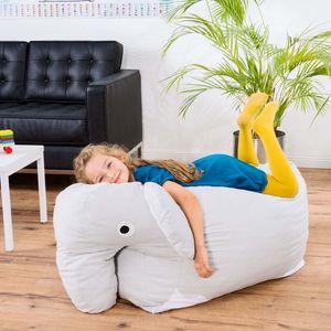 Kinder Sitzsack - Elefant Kindersitzsack - Tier Kinder Sitzsack von Smoothy
