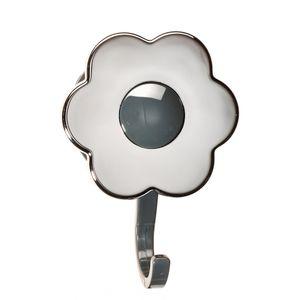Kochblume Flower Power Haken S Silver Edition chrom schwarz Kunststoff Halter Aufhänger