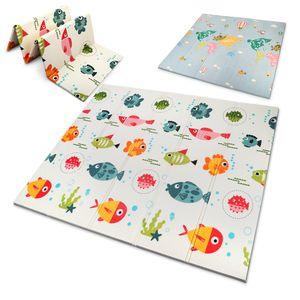 OUNUO Spielmatte Baby Krabbelmatte Babymatte faltbare bodenmatte spielteppich 200 x 180 x 1,5 cm spieldecke Doppelseiten spielbar krabbeldecke asserdicht  babymatte