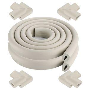 [2er-Pack] 2 Meter Länge U-Form Tischkantenschutz Baby Proector + 8 Ecken (grau) Weich ungiftig