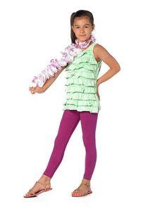 Mädchen Kinder Leggings in 23 Farben Baumwolle, Flieder 116