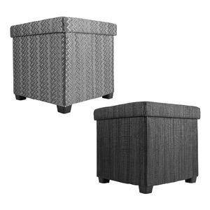 Echtwerk Sitzwürfel/Aufbewahrungsbox 'OutdoorCube' , Farbe:Schwarz
