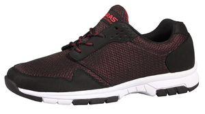 Boras Unisex Sneaker auch in Übergrößen 'Contra' black/red 3086-0053, Herren:39 EU