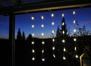 LED Sternenvorhang Lichtervorhang 30 LEDs 120x90cm / Innen