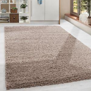 Shaggy Hochflor Langflor Teppich Soft Wohnzimmerteppich Farbe Beige Einfarbig, Grösse:300x400 cm