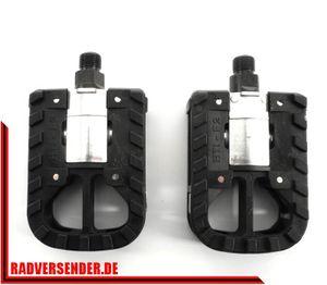 1 Paar klappbare Faltrad Pedale Klapp Fahrrad folding pedal mit Reflektor