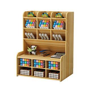 NEUFU Schreibtisch Organizer aus Holz Multifunktionale Aufbewahrungsbox Stifthalter Büro Tisch Organisation