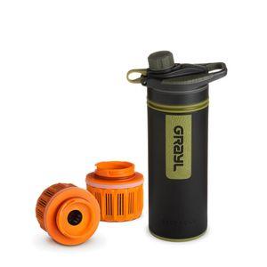 Grayl GeoPress Outdoor- & Reisewasserfilter mit 2 Ersatzfiltern - Camo Black