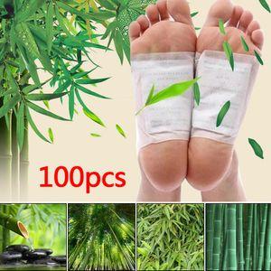 100 * Detox Foot Pad Patches entfernen schädliche Körpergifte Schlaf Kräuterreinigung