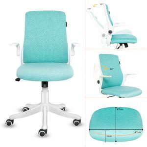 Bürostuhl Drehstuhl Schreibtischstuhl Ergonomisch Klappbare Armlehnen Wippfunktion Höhenverstellbar Drehstuhl Mesh Grün