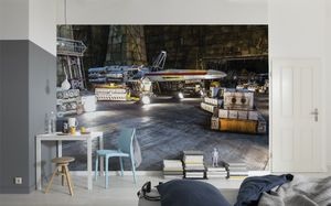 "Komar Fototapete ""Star Wars – Rebel Base"", bunt, 368 x 254 cm"