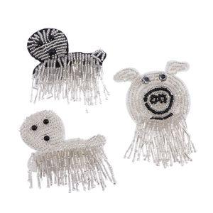 3er-Set Tiere-Aufnäher Patches Perlen Applikation, Aufnähen auf Tasche, Hut, Jeans, Applique