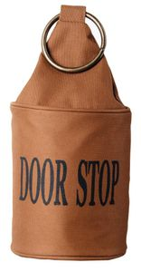 3 Stück Esschert Design Türstopper, Türpuffer in braun, mit Ring, ca. 14 cm x 14 cm x 34 cm