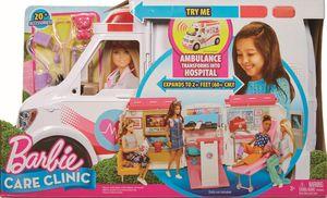 Barbie 2-in-1 Krankenwagen Spielset (mit Licht & Geräuschen)
