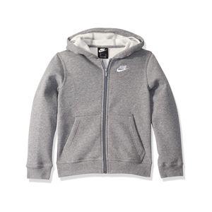 Nike B Nsw Hoodie Fz Club Carbon Heather/Smoke Grey/Whit Carbon Heather/Smoke Grey/Whit S