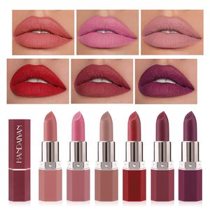 Matte Lippenstifte Set 6 Farben Samtroter Lippenstift Langlebiger Wasserdichter Lipgloss für Frauen Mädchen Make Up Geschenkset