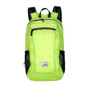 Grün,20L Faltbarer Reiserucksack Sport Wandern Camp Wasserdichte Tasche Fahrradrucksacke