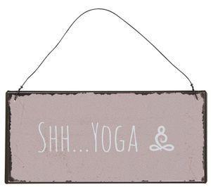 IB Laursen ApS -Metallschild Shh Yoga