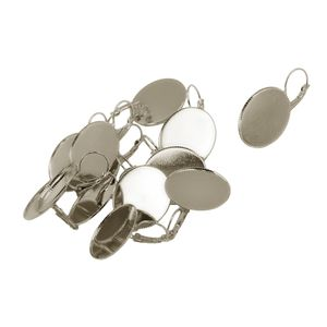 12 Stücke DIY Ohrstecker Cabochon Perlen Behälter Schmuck Herstellen Zubehör Farbe Silber