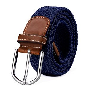 Stoffgürtel Stretchgürtel geflochten und elastisch Gürtel Länge 100 cm bis 130 cm dunkelblau
