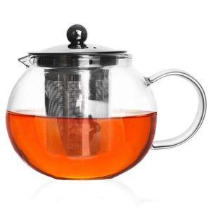 ORION Glaskanne Glaskrug Teekanne mit Teesieb Teefilter 0,8l