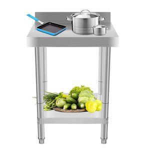 Edelstahl Arbeitstisch Edelstahltisch Gastro Tisch Küchentisch Gastronomie 61x61cm