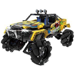 RC Baustein Stunt Drift Car Qihui 9802 mit Licht und Sound Bausteinfahrzeug Bausteinspielzeug mit Motor
