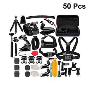 50 in 1 Action Kamera Zubeh?r Set Strap Floating Stick Stativ Halterung Adapter Saugnapf Kompatibel fš¹r Hero 8 7 6 Osmo Action