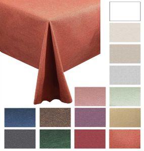 "Tischdecken-Serie ""Panama Uni"" eckig 110 x 160 Terra"