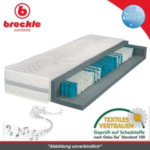 Breckle Sinfonia 1000 XXL TFK Taschenfederkernmatratze, Härtegrad:H3, Größe:100x200 cm