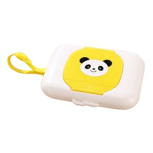 Baby Kinder Feuchttücher Box Feuchttuchbox Kinderwagen Zubehör Farbe Gelb