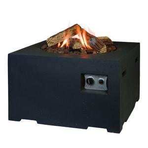 Mania Cocoon Feuertisch schwarz quadratisch 76x76 cm