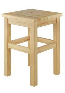 Holzhocker Massivholzsitz ohne Lehne in Kiefer massiv oder weiß V-90.71-41, Holzart / Holzfarbe:Kiefer