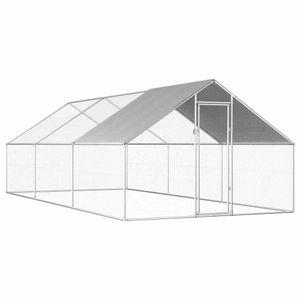 Outdoor-Hühnerk?fig 2,75x6x1,92 m Verzinkter Stahl