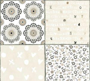 Livingwalls Vliestapete Cozz Ökotapete grau beige weiß 10,05 m x 0,53 m 362961 36296-1