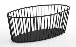 APS Korb -URBAN-  /// 30 x 14 cm, H: 12 cm, oval  /// Metall, schwarz  /// 30413